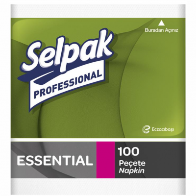 Selpak Professional Essential Peçete 100'Ad