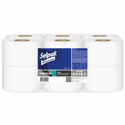 Selpak Professional Premium İçten Çekmeli Tuvalet Kağıdı 120metre 12'Ad