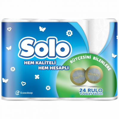 Solo Tuvalet Kağıdı 2 Katlı 24'Lü