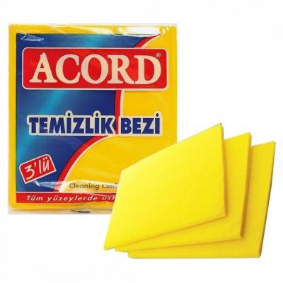 Acord Temizlik Bezi Sarı 3'Lü