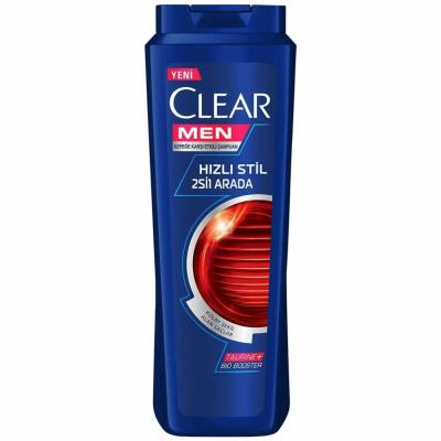 Clear 2'si1 Arada Şampuan Kepeğe Karşı Etkili Hızlı Stil Men 500ml