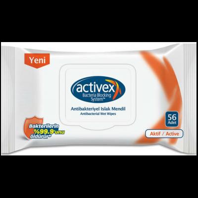 Activex Islak Mendil Antibakteriyel Aktif 56'lı