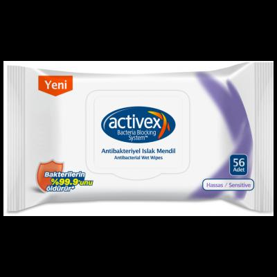 Activex Islak Mendil Antibakteriyel Hassas Sensitive 56'lı