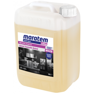 Maratem Yağlı Mutfak Yüzeyleri İçin Genel Temizlik Ürünü M320-10Lt