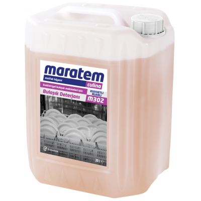 Maratem Endüstriyel Bulaşık Makineleri İçin Bulaşık Deterjanı M302-20Lt