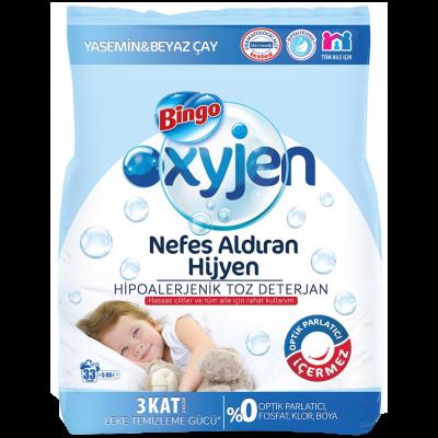 Bingo Oxygen Toz Çamaşır Deterjanı Yasemin-Beyaz Çay 5Kg