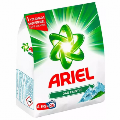 Ariel Matik Toz Çamaşır Deterjanı Dağ Esintisi Beyazlar İçin 4Kg