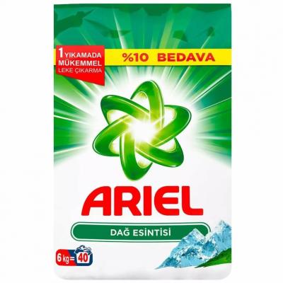 Ariel Matik Toz Çamaşır Deterjanı Dağ Esintisi Beyazlar İçin 6Kg