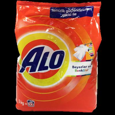 Alo Matik Toz Çamaşır Deterjanı Beyazlar ve Renkliler 5Kg