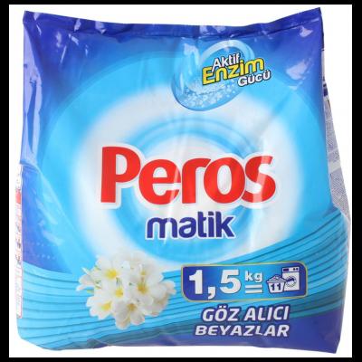 Peros Matik Toz Çamaşır Deterjanı Göz Alıcı Beyazlar 1,5Kg