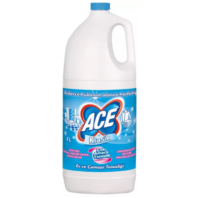 Ace Çamaşır Suyu Klasik 4Lt