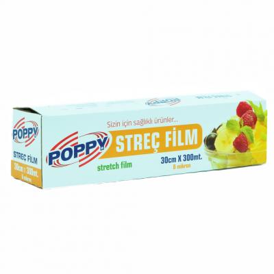 Poppy Streç Film 30cmx300mt - 8mikron